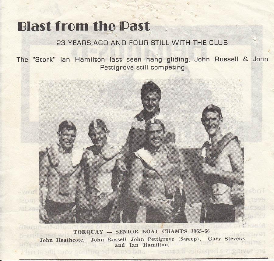 TSLSC Senior BoatChamps 1965 1966