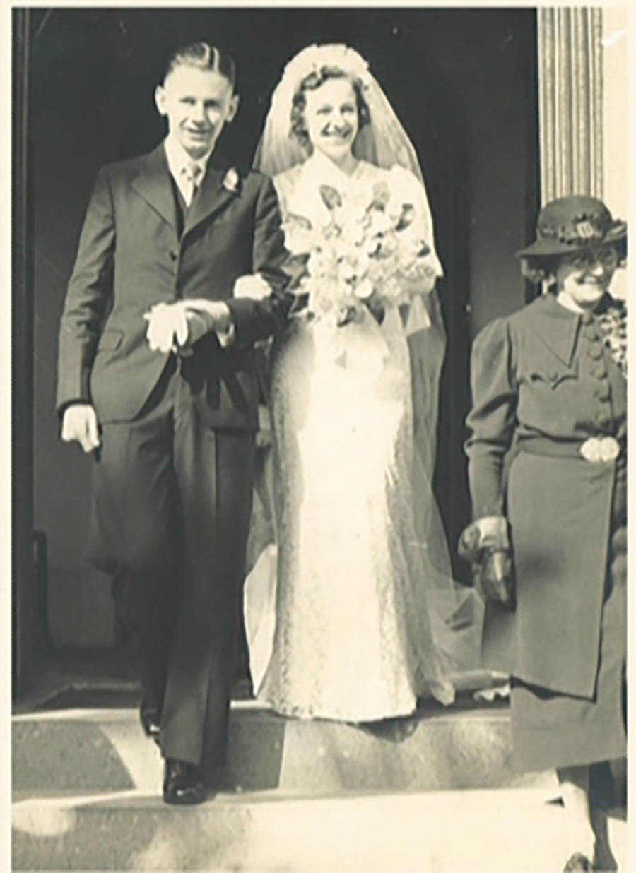 Ray And Jim Wedding Day Church Of Christ, Mooroolbool St 21 8 1937
