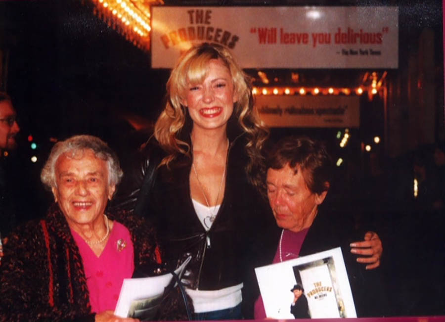 Ray With Anna Burgess And Anna's Great Aunt At The Producers
